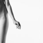 woman hip hand